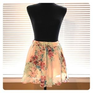 Wet Seal floral mini skirt